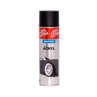MasAutoACRYL sprej Matt Black 500ml