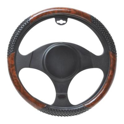 Poťah volantu masážny s drevom 39-41cm