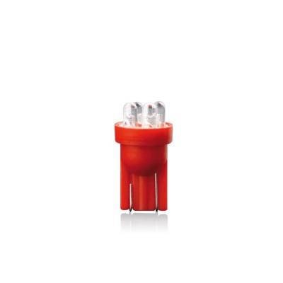 Žiarovka LED T10 RED 12V 5W W5W