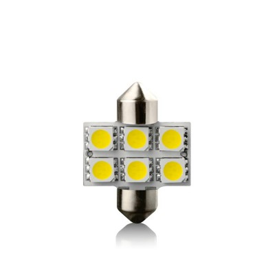 Žiarovka LED SV8.5  WHITE 12V 31mm