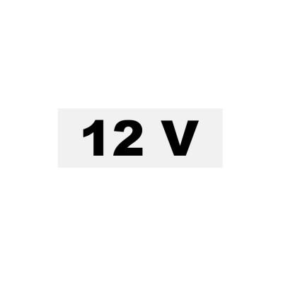 Samolepka  12V