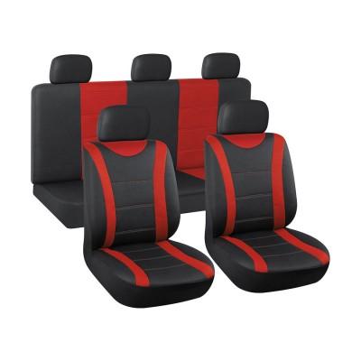 Autopoťah 3ks čierny/červený AUTOMAX