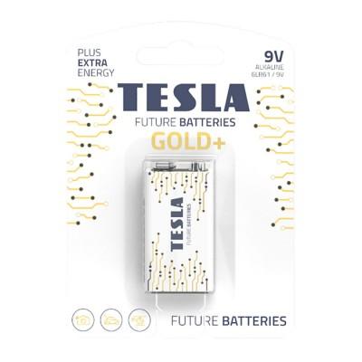 TESLA GOLD+ 9V Alkaline 1ks blister