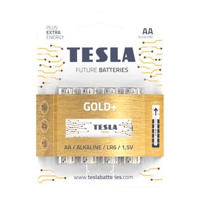 TESLA GOLD+ AA Alkaline 4 ks blister