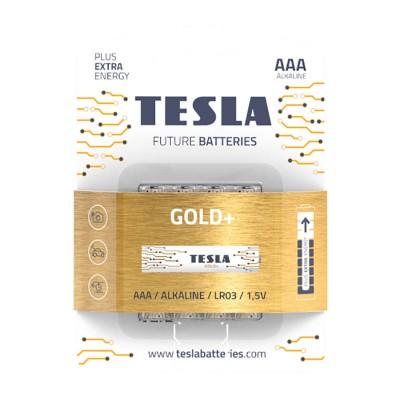 TESLA GOLD+ AAA Alkaline 4ks blister