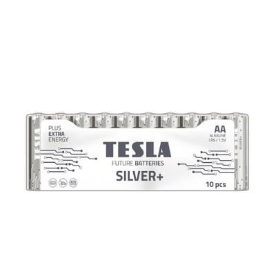 TESLA SILVER+ AA Alkaline 10ks blister