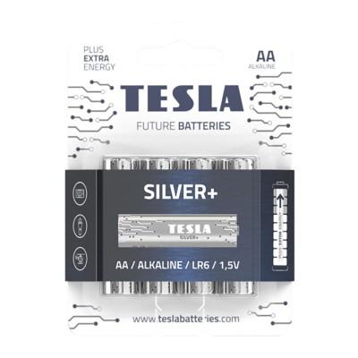 TESLA SILVER+ AA Alkaline 4ks blister