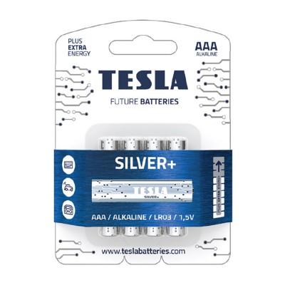 TESLA SILVER+ AAA Alkaline 4ks blister