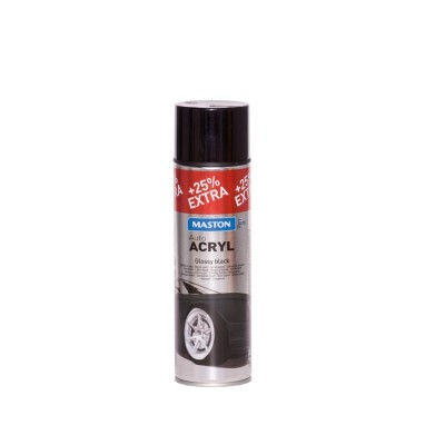 MasAutoACRYL spray Black gloss 500ml