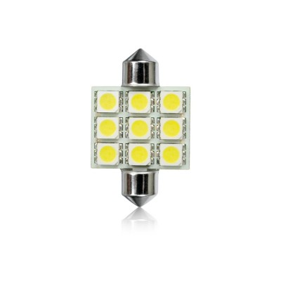 Žiarovka T11 36mm FESTOON 9LED-5050SMD BC 2ks