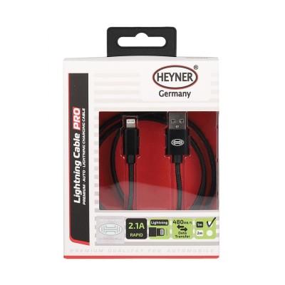 Nabíjací kábel Lightning USB dĺžka 1m HEYNER