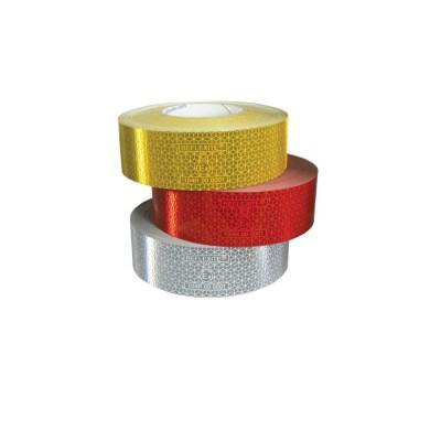 Reflexný pás 50mmx50m červený ECE 104 pevný povrch