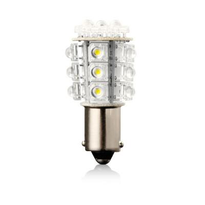 Žiarovka LED G18 červená 12V 5W BA15S VECTA