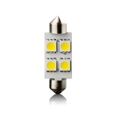 Žiarovka LED SV8.5 4 WHITE 12V 39mm VECTA