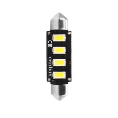 LED Blister 1ks C5W 42mm 4xSMD5730 12V CANBUS white