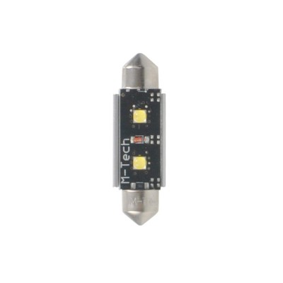 LED C5W 36mm 2xHP 12V White PLATINUM
