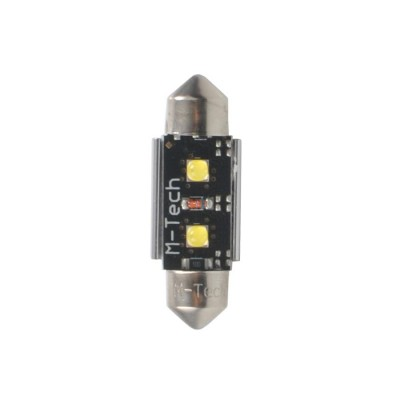 LED C5W 41mm 2xHP 12V White PLATINUM