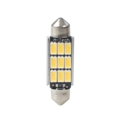 LED C5W 41mm 9xSMD5630 12V White PLATINUM