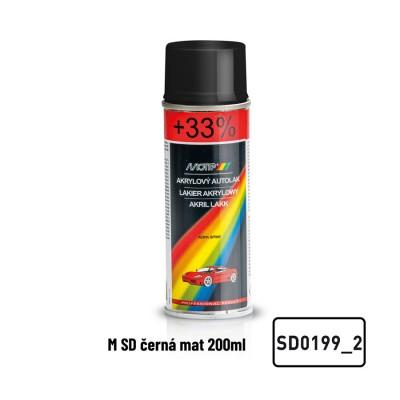 Akrylový autolak Škoda čierna matná SD0199_2 200ml MOTIP